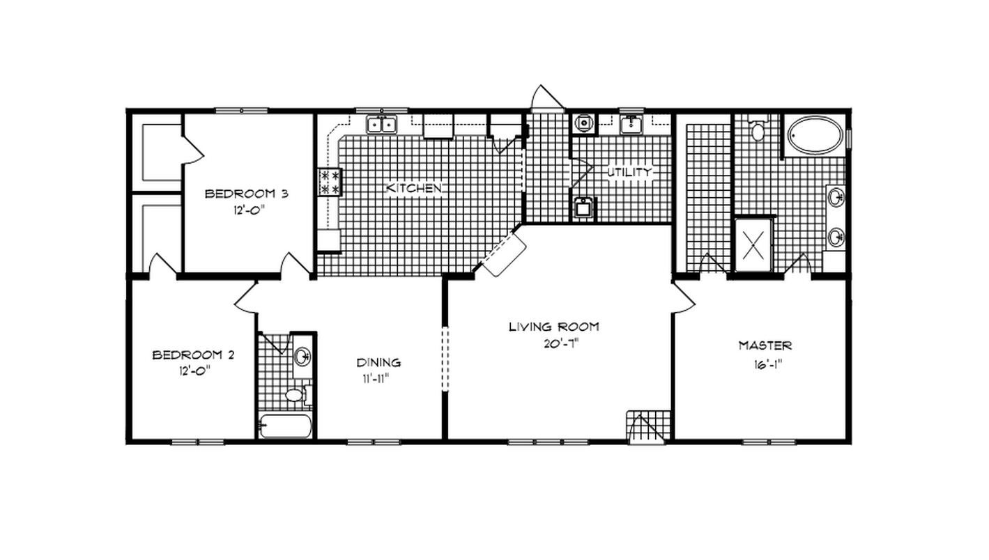 Fleming ranch modular home 2 024 sf 3 bed 2 bath for Fleming homes floor plans