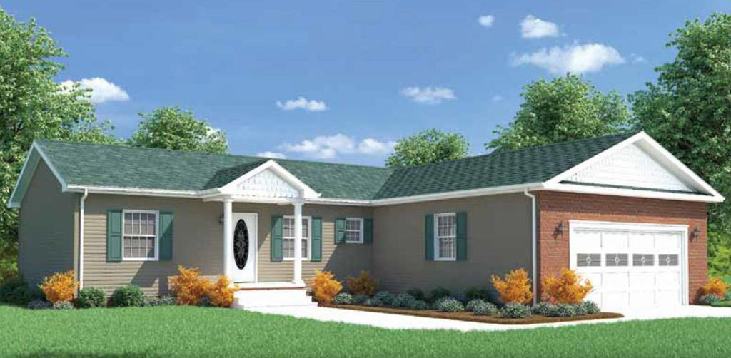 Federal ranch modular home 1 200 sf 3 bed 2 bath for 3 bed 2 bath modular home