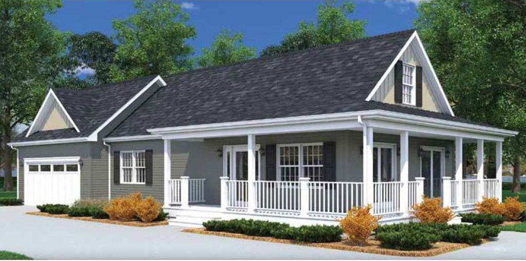 Bayshore cape cod modular home 960 sf 2 bed 1 bath for Modular cape cod homes