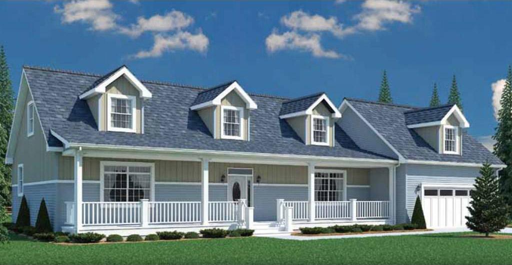 Newport cape cod modular home 1 456 sf 1 bed 2 bath for Cape cod modular homes