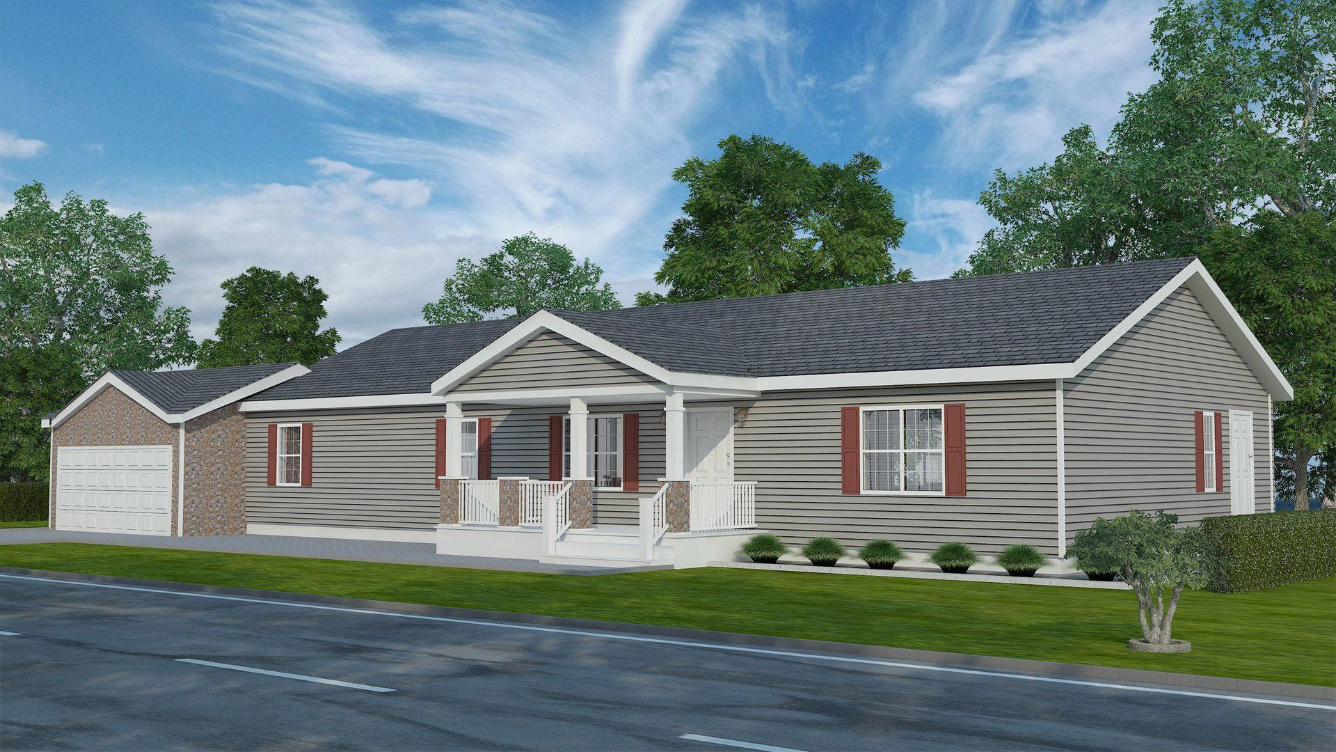 Maple Ranch Modular Home U2013 1,760 SF U2013 4 Bed 2 Bath