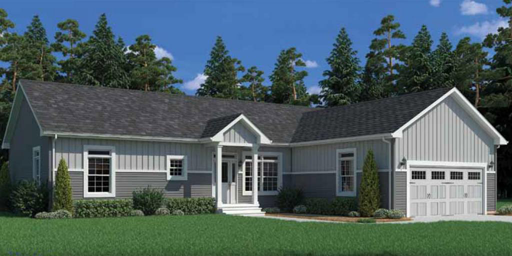 Brookside ranch modular home 1 620 sf 3 bed 2 bath for 3 bed 2 bath modular home