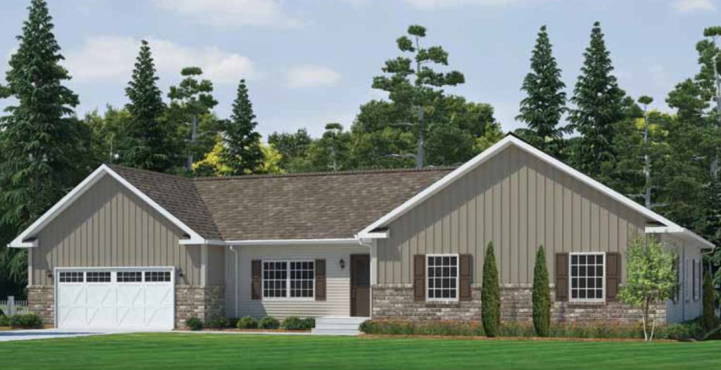 Oxford ranch modular home 1 680 sf 3 bed 2 bath next for 3 bed 2 bath modular home