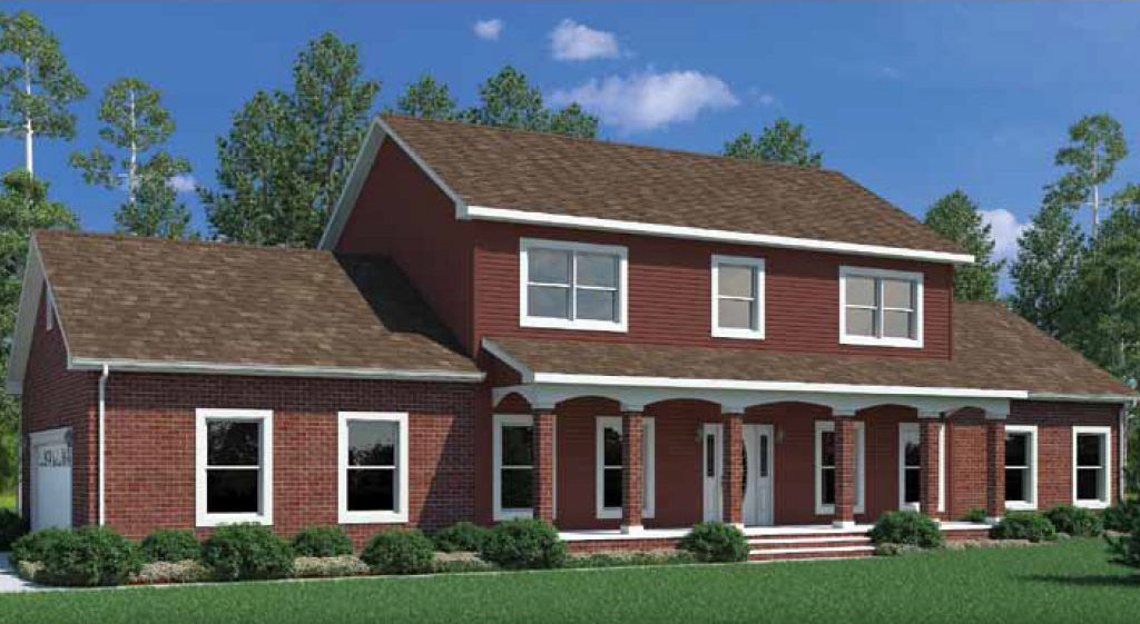 Madison two story modular home 2 632 sf 5 bed 3 1 2 for 2 story house price