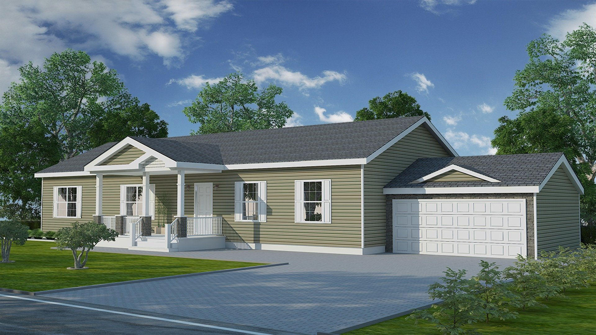 Willow Ranch Modular Home - 1,840 SF - 3 Bed 2 Bath - Next Modular