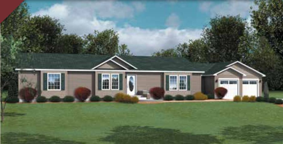 Crowne 134 ranch modular home 1 800 sf 3 bed 2 bath for Cost of 2000 sq ft modular home