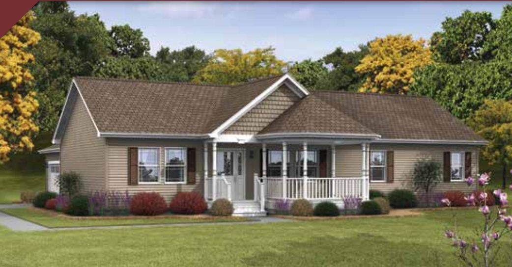Crowne 169 ranch modular home 1 600 sf 3 bed 2 bath for 3 bed 2 bath modular home