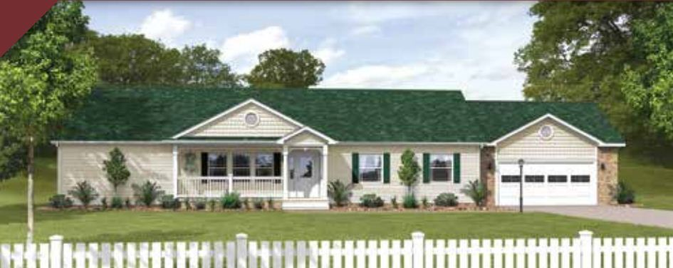 Crowne 188 ranch modular home 1 920 sf 3 bed 2 bath for 3 bed 2 bath modular home