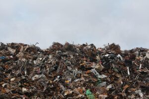 construction waste in landfill